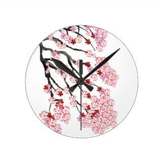Relógio Redondo Flor de cerejeira 18 Tony Fernandes