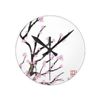 Relógio Redondo Flor de cerejeira 23 de Sakura, Tony Fernandes