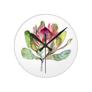 Relógio Redondo Flor do Protea
