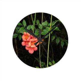Relógio Redondo Flores da meia-noite