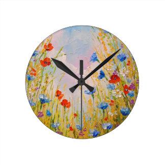 Relógio Redondo Flores selvagens