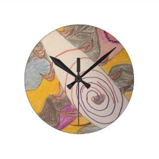 Relógio Redondo Flutuação no vácuo do arco-íris