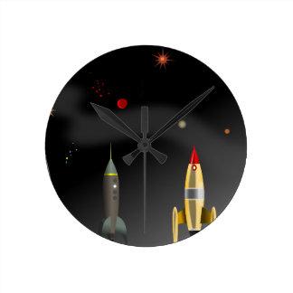 Relógio Redondo foguete