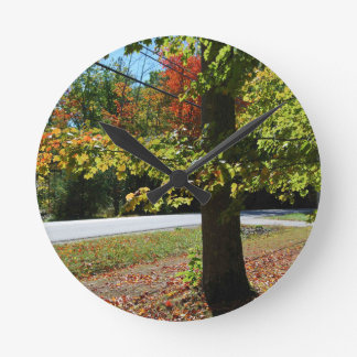 Relógio Redondo Folhas de outono em Maine
