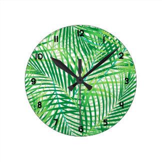 Relógio Redondo Folhas de palmeira