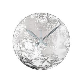 Relógio Redondo Forma do abstrato do cristal da gema de Ombre das