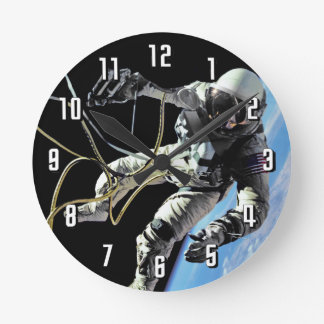 Relógio Redondo Foto americana do Spacewalk do astronauta da NASA