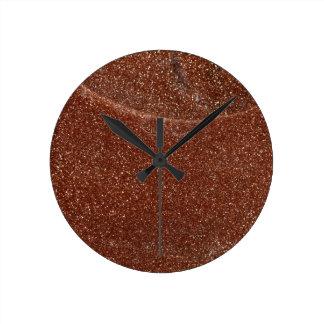 Relógio Redondo Foto macro do vidro de Goldstone