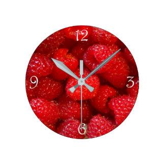 Relógio Redondo Fotografia cor-de-rosa escura bonito deliciosa da