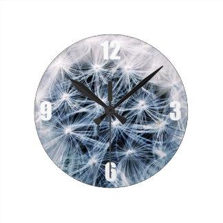 Relógio Redondo fotografia delicada bonita da flor do