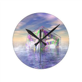Relógio Redondo Fractal de flutuação