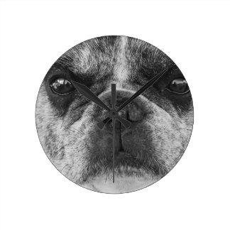 Relógio Redondo francês-buldogue