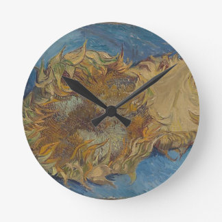 Relógio Redondo Fundo do girassol