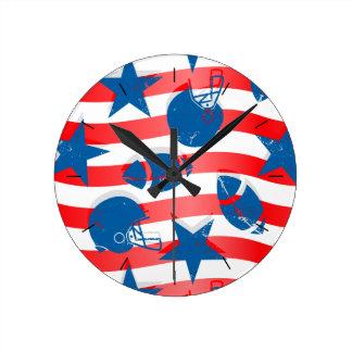 Relógio Redondo Futebol dos EUA