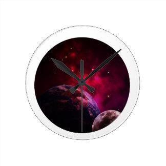 Relógio Redondo Galaxy Purple 1 - Gláxia roxa