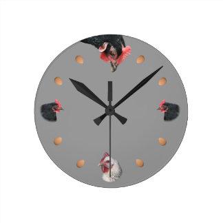 Relógio Redondo Galinha e ovo