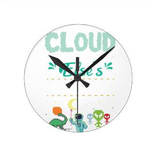 Relógio Redondo Gamer do amante do computador engraçado ELE