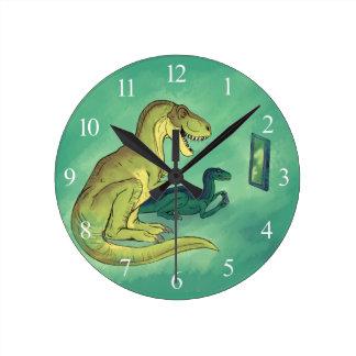 Relógio Redondo Gamer-Saurus
