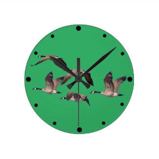 Relógio Redondo Gansos em vôo