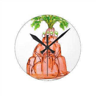 Relógio Redondo gato do jello da cenoura dos fernandes tony
