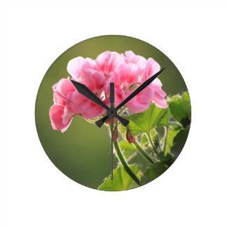Relógio Redondo gerânio