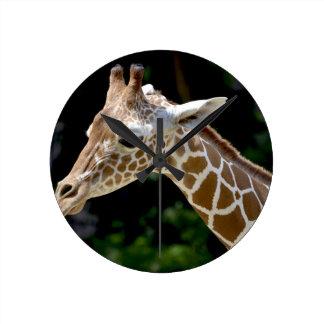 Relógio Redondo Girafa de Brown durante o dia