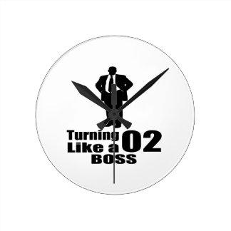 Relógio Redondo Girando 02 como um chefe