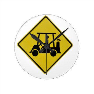Relógio Redondo golfe-cruzamento-sinal