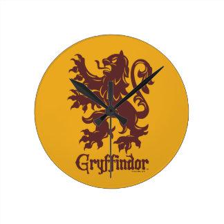 Relógio Redondo Gráfico do leão de Harry Potter | Gryffindor