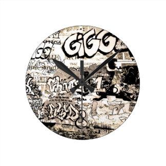 Relógio Redondo Grafites