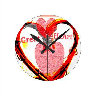 Relógio Redondo Grande coração