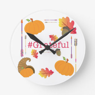 Relógio Redondo #Grateful