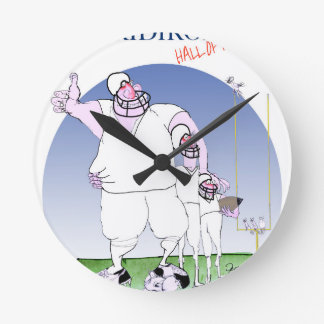 Relógio Redondo Grelha - corredor da fama, fernandes tony