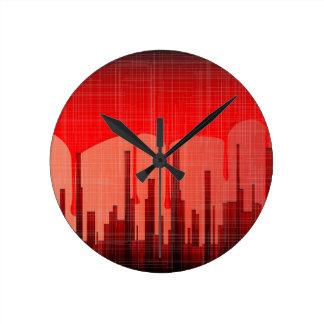 Relógio Redondo Grunge da cidade do sangue
