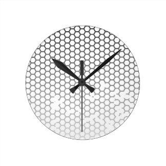 Relógio Redondo Grunge do favo de mel