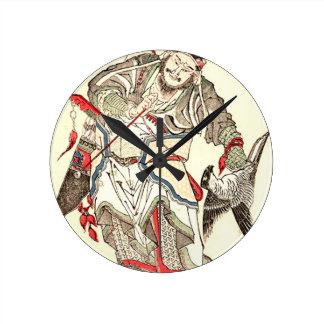 Relógio Redondo Guerreiro - 魚屋北渓 de Totoya Hokkei