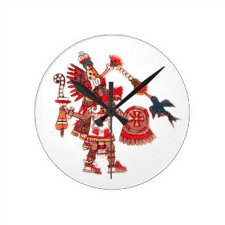 Relógio Redondo Guerreiro asteca do shaman da dança