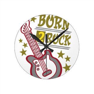 Relógio Redondo Guitarra nascida da rocha, design do guitarrista