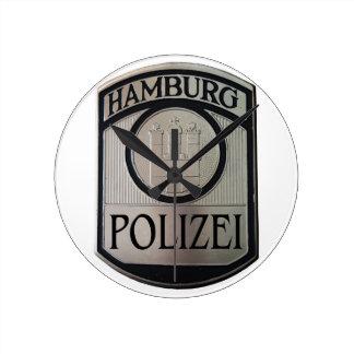 Relógio Redondo Hamburgo Polizei