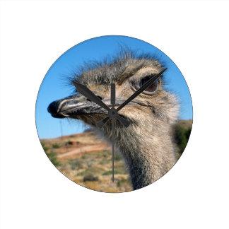 Relógio Redondo Harry a avestruz feliz