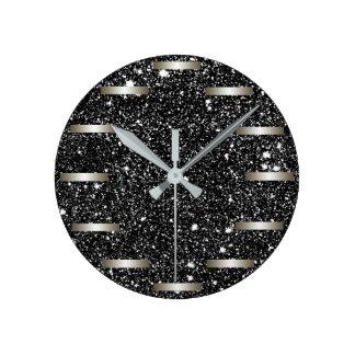 Relógio Redondo HASTE estrelado Geeky lustrosa de Starfield