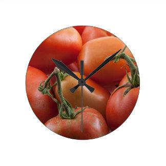 Relógio Redondo Hastes do tomate