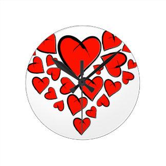 Relógio Redondo Heartinella - corações do vôo