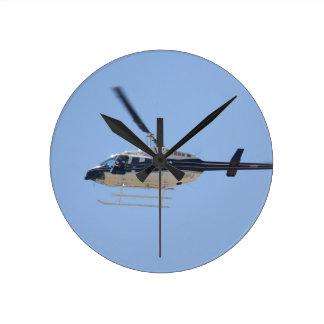 Relógio Redondo Helicóptero