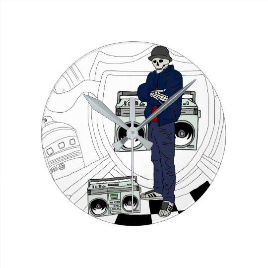 Relógio Redondo Hip-Hop clock