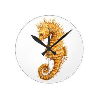 Relógio Redondo Hipocampo do hipocampo do cavalo de mar