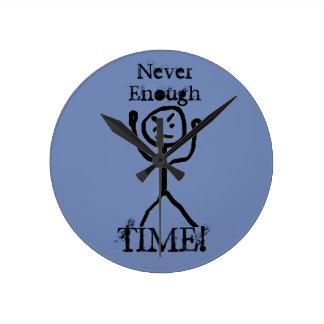 Relógio Redondo Homem irritado da vara