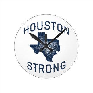 Relógio Redondo Houston forte - alivio da inundação de Harvey