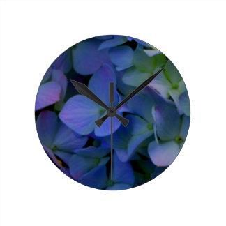 Relógio Redondo Hydrangeas roxos violetas