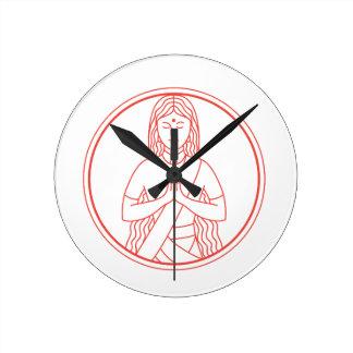 Relógio Redondo Ícone de Namaste